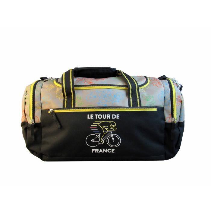 Noir Sac Sport Tour de France Officiel avec Bandoulière