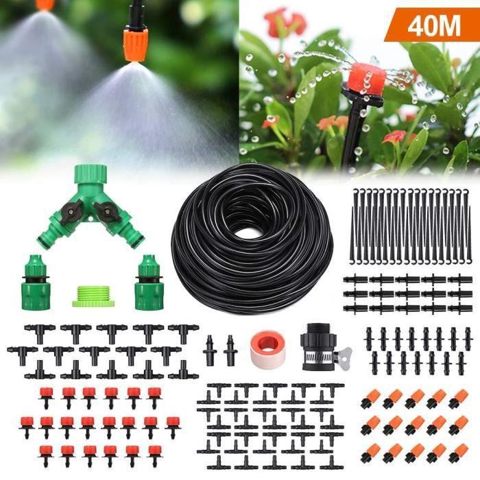 Jardin Système d/'irrigation 1//4 pouces blanc Distribution Tuyau Arrosage Goutte à goutte Kit