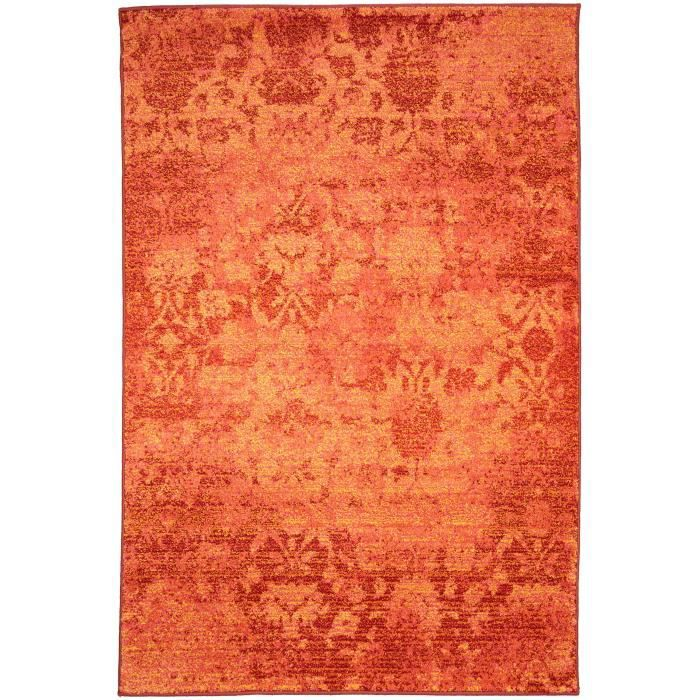benuta tapis liguria orange 140x190 cm achat vente tapis cdiscount. Black Bedroom Furniture Sets. Home Design Ideas