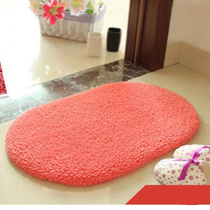 tapis souple anti d parant ovale pour salon chambre bureau entr e de porte rouge s achat. Black Bedroom Furniture Sets. Home Design Ideas