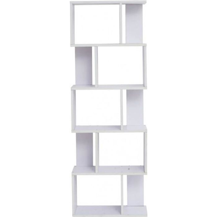 bibliotheque bois blanc achat vente bibliotheque bois blanc pas cher cdiscount. Black Bedroom Furniture Sets. Home Design Ideas
