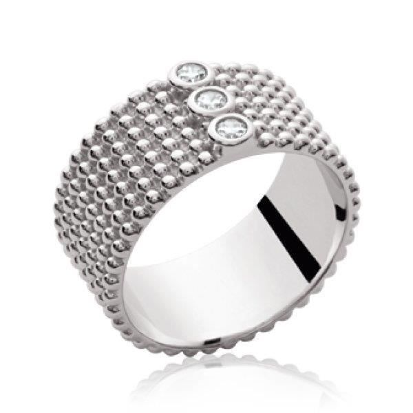 BAGUE - ANNEAU Bague anneau femme - argent massif 925 rhodié - ra