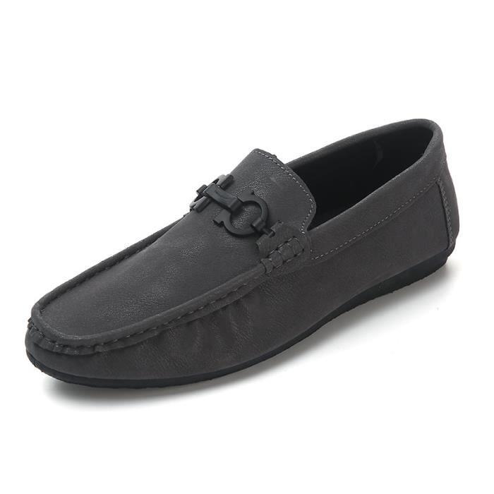 CHAUSSURES BATEAU MOCASSINS GOMMINO Tissé à lacets hommes chaussures Gommino Mocassins de conduite BB