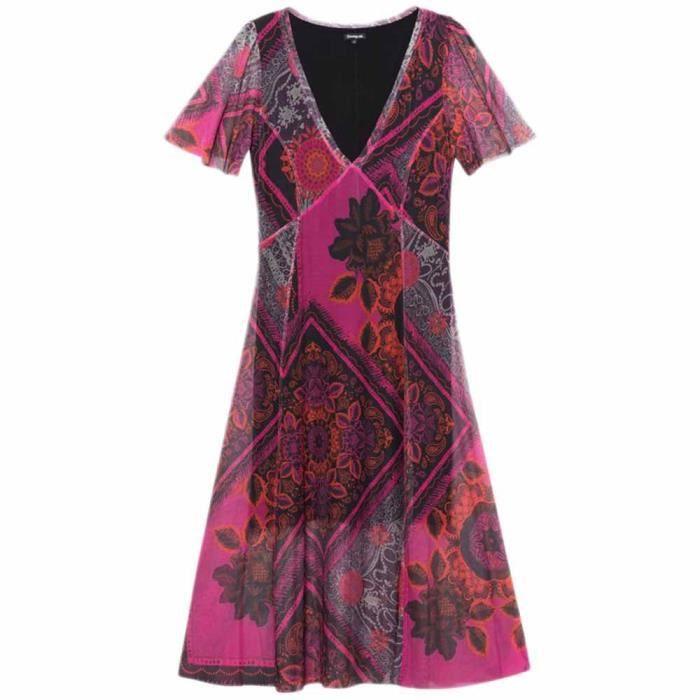 Vetements Femme Robes Desigual Terry Rose Achat Vente Robe Bientot Le Black Friday Cdiscount