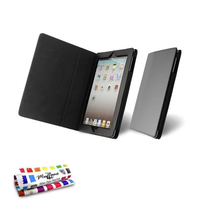 etui folio apple ipad 3 noir achat vente coque. Black Bedroom Furniture Sets. Home Design Ideas