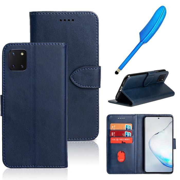 Silicone TPU Entour/é Bleu Shell de T/él/éphone Protection Couverture Case Cover Hard PC Back Cover Tissu en Denim Etui Housse HAOYE Coque pour Samsung Galaxy Note 10 Lite Coque