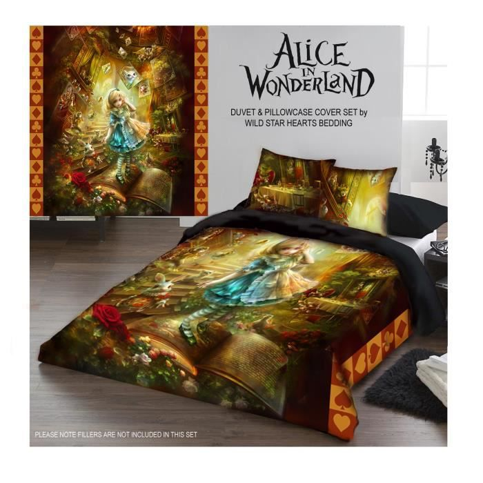 Alice In Wonderland Housse De Couette Set Uk Kingsize Achat