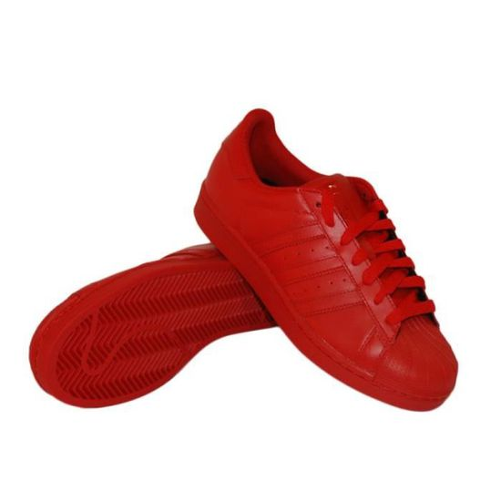 bas prix 1e74c 3cf44 Basket Adidas Superstar Pharrell Williams Rouge Rouge ...