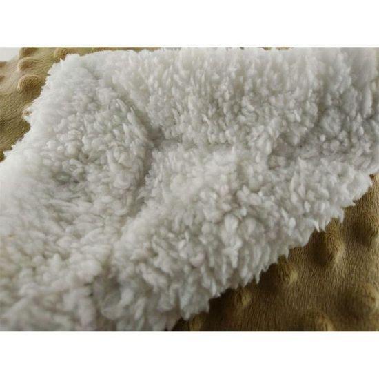 Moses 75x100 cm lit poussette Spike Design Bébé Polaire Fourrure Dos couvertures-Voyages