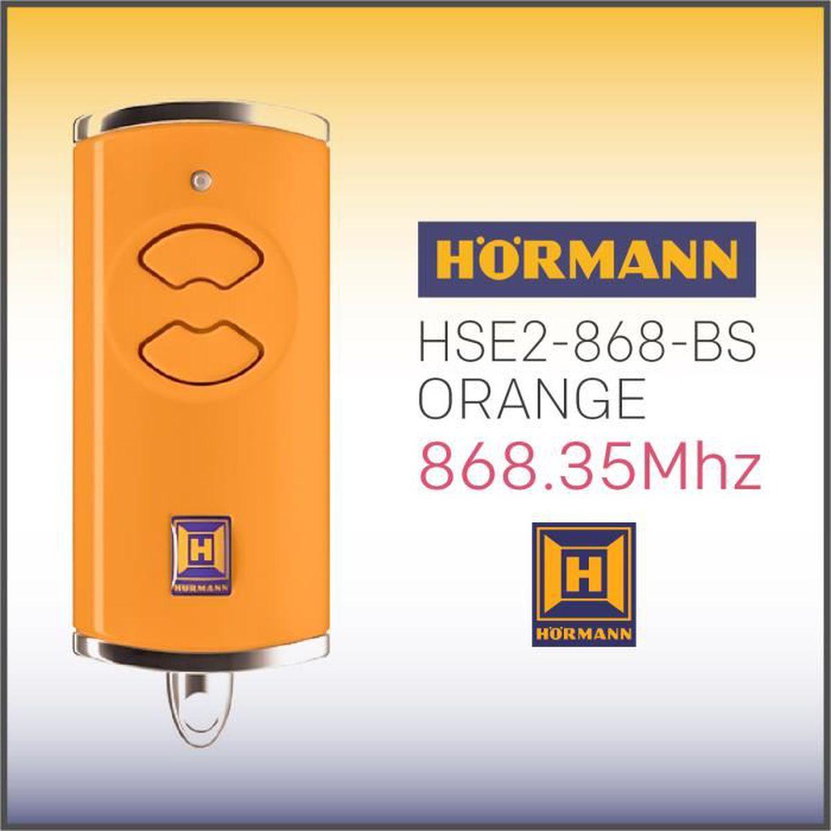 Porte De Garage Hormann Pas Cher télécommande hÖrmann hse2 868-bs orange , 868,35 mhz