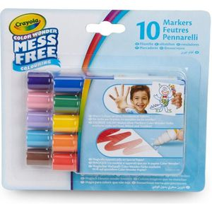 JEU DE COLORIAGE - DESSIN - POCHOIR Crayola - 10 Mini-feutres Color Wonder - Coloriage