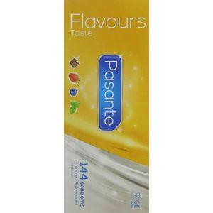 PRÉSERVATIF Pasante Flavours-Taste Préservatif Masculin 144 Pi