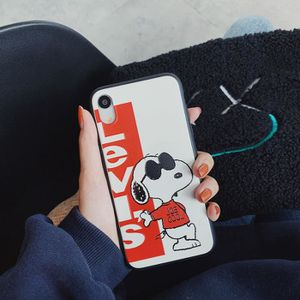 coque iphone 7 8 levi s snoopy cuir pour iphone 6