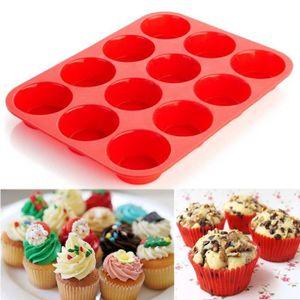 MOULE  Moule à gâteaux en silicone de 12 tasses Moule à g