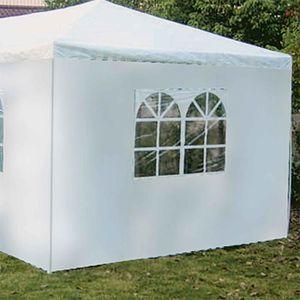 TONNELLE - BARNUM Cote de tente avec fenetre et de couleur blanc pou