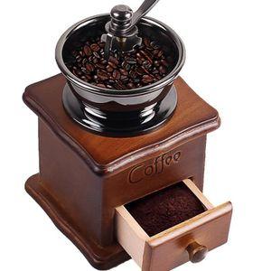 MACHINE À CAFÉ Moulin à café fait à la main en bois café rétro ca