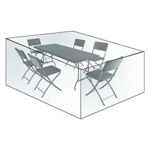 HOLISTAR Protective Cover for Patio Set Outdoor Patio Garden Furniture Cover PE 193x136x88cm Green