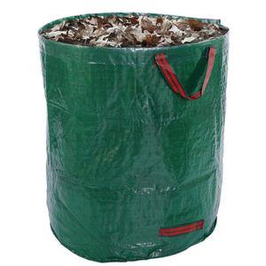 Garden Heavy Duty gros déchets Sac De Mauvaises Herbes Feuilles Coupe Refuser Poubelle Sac vert CA