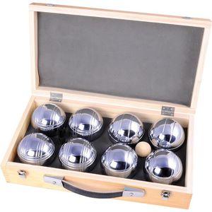 BOULE - COCHONNET Jeu de Pétanque 8 boules métal boîte en bois