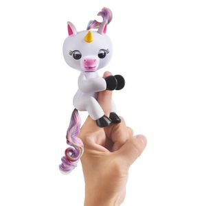 FINGERLINGS Bébé Licorne Blanche Interactive