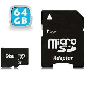 CARTE MÉMOIRE 64GB Micro SD Card Plus Adapter (Class 10 UHS-I Mi