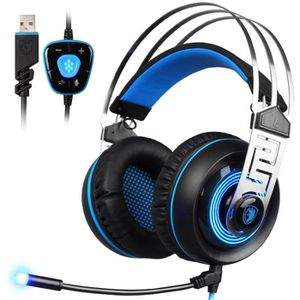 CASQUE AVEC MICROPHONE Casque Gaming USB 7.1 Son Surround Gamer Casque Mi