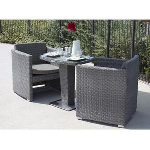 set balcon repas dolce achat vente salon de jardin set. Black Bedroom Furniture Sets. Home Design Ideas