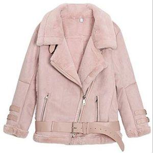 MANTEAU - CABAN Veste-manteau femme en daim doublure en laine des