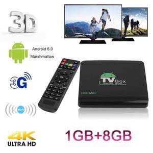 BOX MULTIMEDIA Smart TV box android 6.0 boîtier TV 1Go RAM 8Go RO