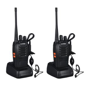 TALKIE-WALKIE Baofeng BF-888S Walkie-talkie 5W 16Ch avec casque