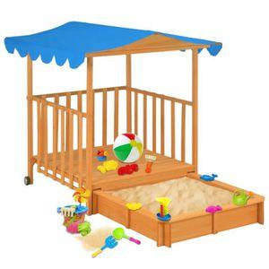 BAC À SABLE Maison de jeu pour enfants avec bac à sable Bois B