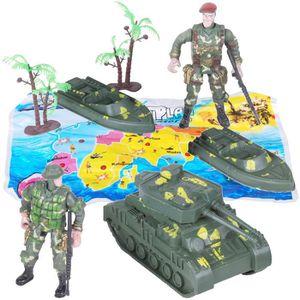 FIGURINE - PERSONNAGE Set Figurines Articulées Jouet Garçon Soldat Ch…