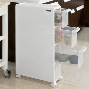 MEUBLE BAS COMMODE SDB SoBuy® FRG41-W Chariot pour rangement cuisine sall