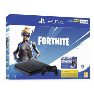 CONSOLE PS4 Pack PS4 Slim 500Go + Lot Neo Versa Fortnite + 200