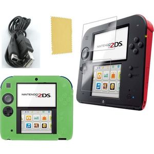 PACK ACCESSOIRE Pack 3 en 1 Nintendo 2DS : Housse silicone vert -