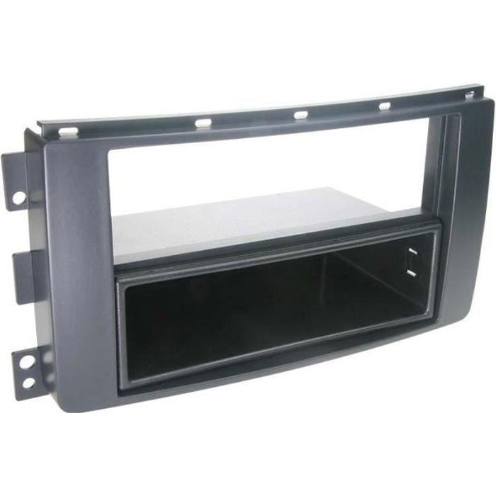 Adaptateur de façade 2-DIN avec vide poche Smart ForTwo / ForFour noir