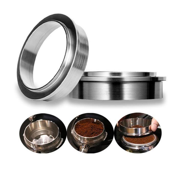 CAFE EN GRAINS Taille 57.5mm Anneau de dosage intelligent pour préparer le CAFE EN GRAINS, bol d'infusion en acier inoxydable espr