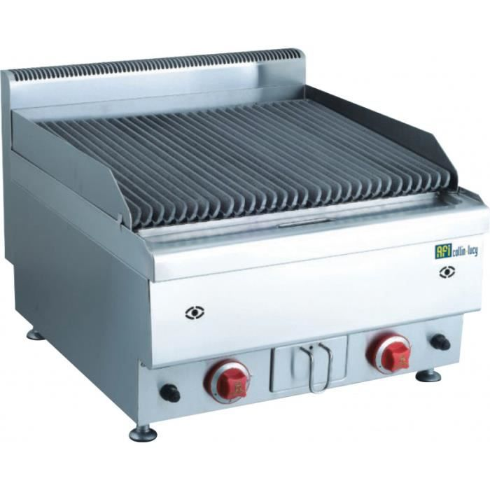 Grill Pierre de Lave au Gaz en Inox Gamme Top 650 - 14,4 kW - AFI Collin Lucy - 650