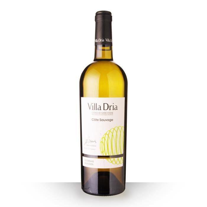 Villa Dria Côte Sauvage 2018 IGP Côtes de Gascogne - 75cl - Vin Blanc