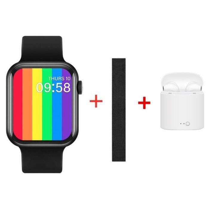 Montre connectée IWO 10 T500 Plus 2020, bracelet non étanche, moniteur de fréquence cardiaque et de sommeil, écran [1A08FA1]