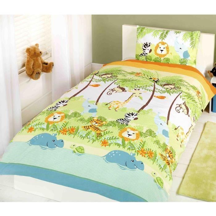 Parure de lit housse de couette Jungle Lion