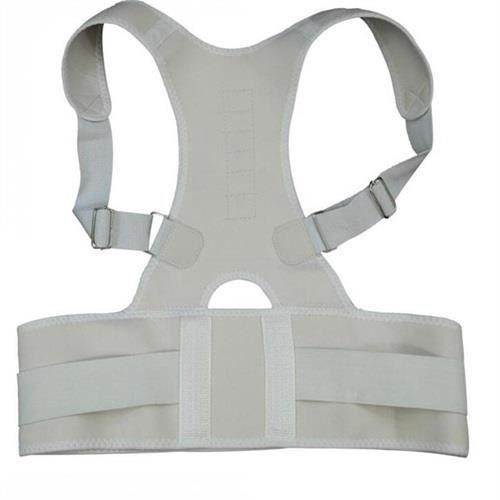 CEINTURE LOMBAIRE,Réglable Orthopédique Dos Posture Soutien Bretelles Ceinture Correcteur de Posture Magnétique - Type WHITE-S