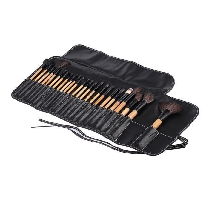 24PCS Professionnel Set de maquillage Powder Foundation-Le fard à paupières-Eyeliner-Cosmétique pour les lèvres pinceaux Outils de