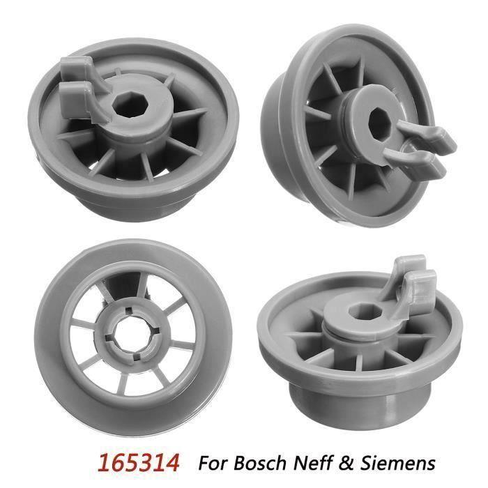 NEUFU 4x Panier Rouleau Passe au lave-vaisselle Panier Inférieur 165314 Pour Bosch Neff &amp Siemens