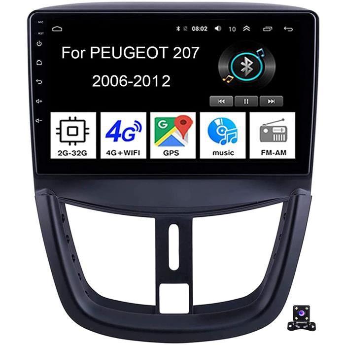 LFEWOZ Lecteur multimédia de Navigation GPS Autoradio Audio Radio FM Satellite Navigator - Applicable pour Peugeot 207 [315]