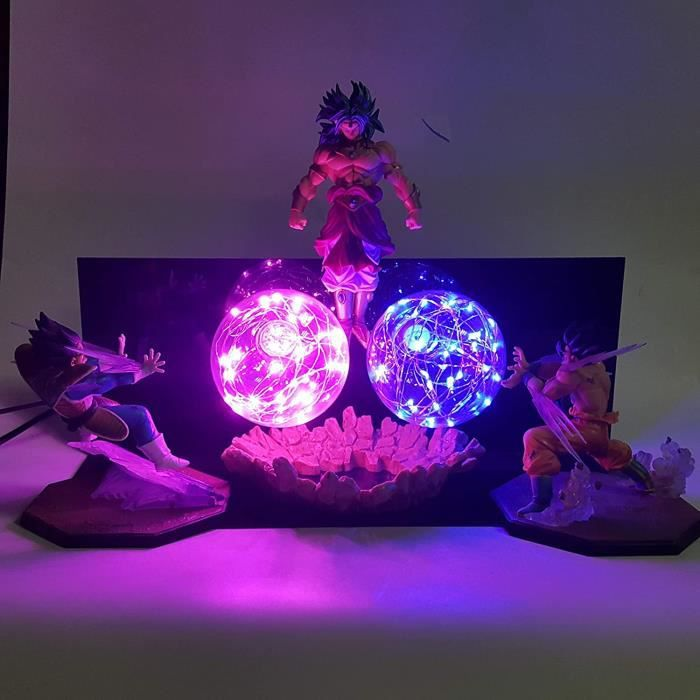 MOLUO Lampe Dragon Ball Z Goku Vs Vegeta Broly LED Lamp Action Figures Toy Anime Dragon Ball Super Kamehameha Figurine DBZ B[737]
