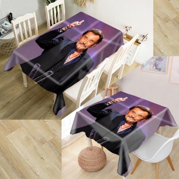 Couleur18 HEARMNY Johnny Hallyday nappe 3D Oxford tissu carré-rectangulaire anti-poussière couverture de Tabl