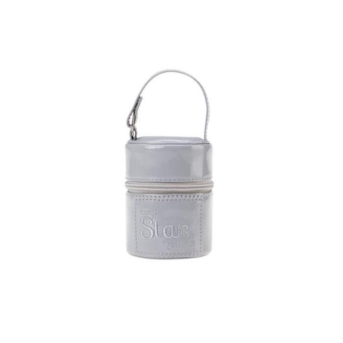 Attache-sucettes en Cuir verni Gris - 105999