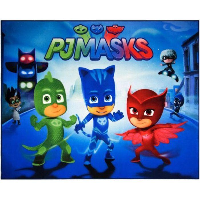 Tapis enfant PJ Masks 125 x 95 cm chambre Disney GUIZMAX