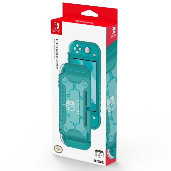 HORI - Nintendo Switch Lite Hybrid System Armor (Turquoise and Clear)